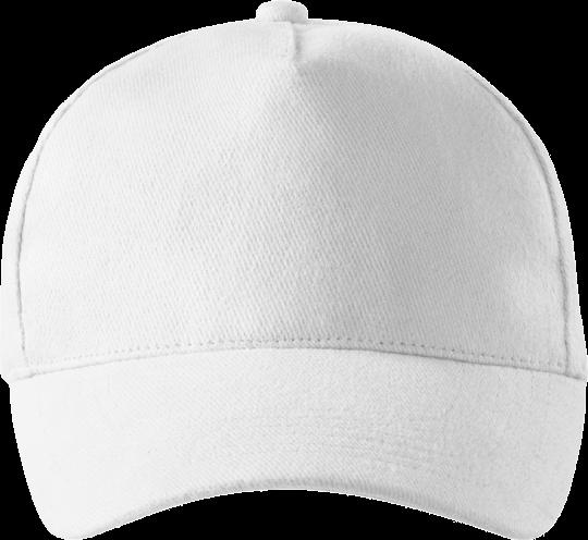 5 Panel Unisex Kappe White