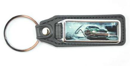 Schlüsselanhänger Lederimitat Rechteck