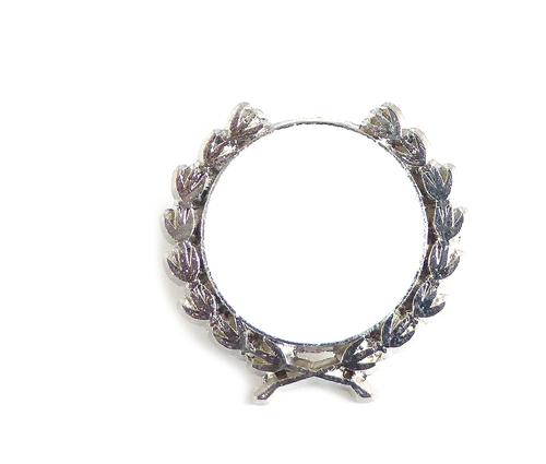 Pin Kranz Silber
